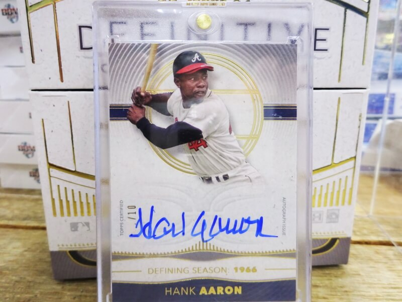 2021 TOPPS DEFINITIVE ハンク・アーロン