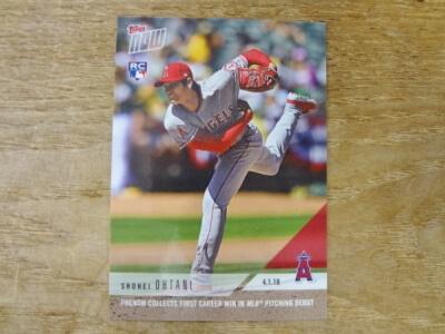 大谷 翔平 2018 TOPPS NOW FIRST CAREER IN MLB PITCHING DEBUT